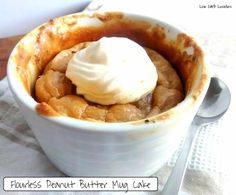 (2) Flourless Peanut Butter Mug Cake - by Low Carb Lovelies