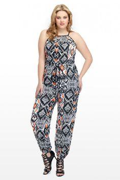 Plus Size The Madison Neon Jumpsuit | Fashion To Figure