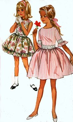 Vintage 60s Simplicity 5944 Girls Cutest Scooped by sandritocat, $9.00