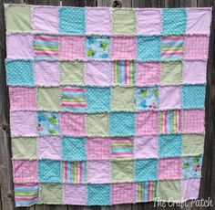 Love rag quilts! They make a great baby gift and are a good beginner sewing project.
