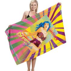 Custom Fiber Reactive Terry Velour Beach Towel