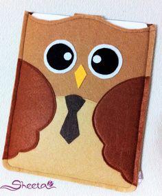 o Friendly Felt HandMade Brown Tie Owl iPad case