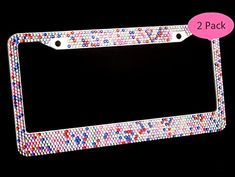 "Annwer (2 Pack) Bling License Plate Frame for Car / Truck , Pure Handwork Inlaid Stainless Steel Sparkling Crystal Rhinestones Metal License Plate Frame (Color Diamond) 6.25"" x 12.25""SIZE JUST RIGHT FOR U.S. SIZE LICENSE PLATES and car tags. All domestic plates will fit perfectly. This... see more details at https://bestselleroutlets.com/automotive-parts-accessories/product-review-for-annwer-2-pack-bling-license-plate-frame-for-car-truck-vehicle-handmade-waterproof-"