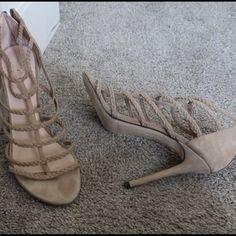 Stuart Weitzman nude heels Preowned please see pics Stuart Weitzman Shoes Heels