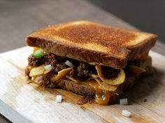 Are you KIDDING ME??   Frito Pie Grilled Cheese Sandwich