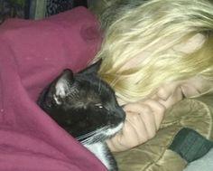 Freyja, my lil goddess with her kitty Blackie Asatru, Kitty, Cats, Animals, Little Kitty, Gatos, Animales, Animaux, Kitty Cats