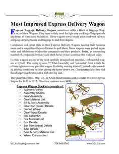 """1st page of Express Wagon chapter of """"THE BUILDING and MODELING OF AMERICAN HORSE DRAWN WAGONS"""" Horse Drawn Wagon, Booklet, Modeling, Delivery, How To Plan, American, Building, Modeling Photography, Buildings"""