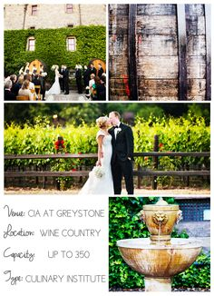 Napa Valley wedding venues on I Do Venues - CIA Greystone @The Culinary Institute of America shot by Andrew Weeks Photography.