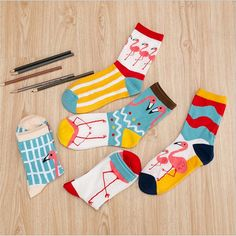 Peonfly 1pairs Funny Mens Colorful Combed Cotton Wedding Socks Wolf Fox Bomb Multi Set Dress Casual Crew Happy Socks Factory Direct Selling Price Underwear & Sleepwears