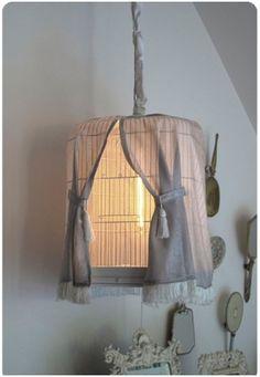 Birdcage Shabby Chic Light