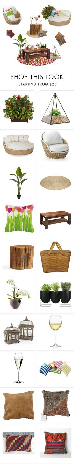 """""""Perfect garden"""" by vaniaoliveira97 ❤ liked on Polyvore featuring interior, interiors, interior design, home, home decor, interior decorating, Sunset West, Frontgate, Peking Handicraft and DutchCrafters"""