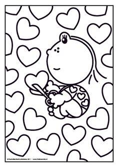Het is bijna valentijnsdag. Lola knipt heel veel hartjes waar ze een mooie kaart mee maakt. Maar voor wie is de kaart?