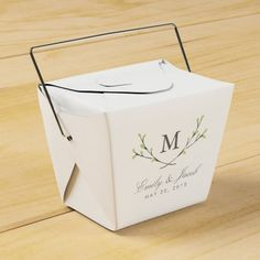 Blissful Branches Wedding Favor Boxes