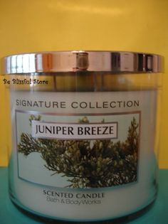 Bath and Body Works Juniper Breeze Candle 3 Wick 65 hours