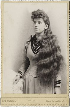 Hairstyle of the late 1800's