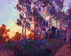 California impressionism modern landscape painting by Erin Hanson