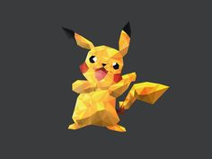 Today 20 Creative Polygon Logo Style will be presented. Hope it will be liked by our readers. A polygon is a bolted figure prepared by joining the line Pikachu, Pokemon, Polygon Logo, Polygon Art, Low Poly, Kawaii Illustration, Illustration Sketches, Art Illustrations, Age Of Ultron