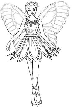 barbie nutcracker colouring pages