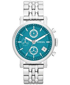 Fossil Women's Original Boyfriend Stainless Steel Bracelet Watch 38mm ES3571