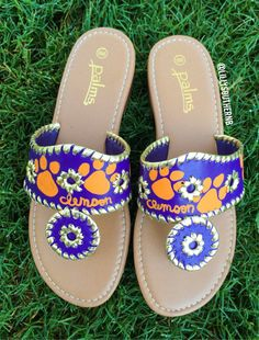 Clemson Inspired College Team Hand Painted Fake by LillySouthern