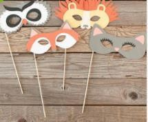 Animal Party Masks, Party Animal Masks, Photo Booth Props, Kids Party Favors, Owl Mask, Fox Mask, Lion Mask, Cat Mask, Animal Party Favors by ChickenCoopGifts on Etsy