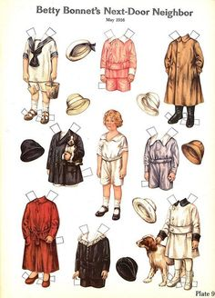 Betty Bonnet Pre WW I Paper Dolls by Sheila Young Full Color 1982 NM MT | eBay