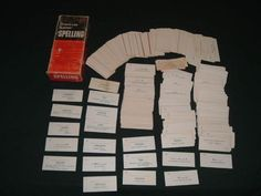 Auction is for a Vintage Way Out of Print, Hard to Find and Very RARE Vis-Ed Spelling and English Flash Cards Box Set, dating back to the 1960's....These Flash Cards are in Good Condition considering their age ..Great Flash Cards to use as intended or for scrap booking