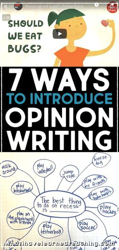 7 Ways to Introduce Opinion Writing to Elementary Students • What I Have Learned