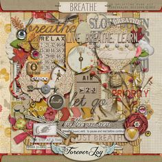 Super Duper Gorgeous Kit @Oscraps :: Digital Scrapbook Kits :: Breathe :: ForeverJoy Designs