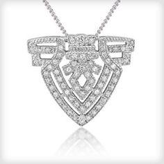 V Jewellery Column Pendant - VIOLETMAI - 1