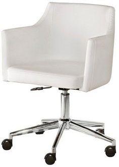 Baraga Home Office Swivel Desk Chair White   Signature Design By Ashley