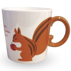 Squirrel tail mug, for Squirrel, of course.