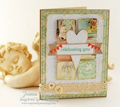 Inspired by Stamping, Joanna Munster, It's Your Birthday stamp set, birthday card, shabby chic card