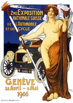 Car & Motorcycle Exposition Geneva 1906 Vintage Posters and Prints