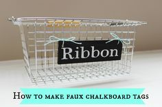 Delightfully Noted: How to Make Faux Chalkboard Tags