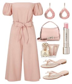 """""""dusty pink"""" by im-karla-with-a-k ❤ liked on Polyvore featuring Miss Selfridge, Kate Spade, Tod's, By Terry and Vince Camuto"""