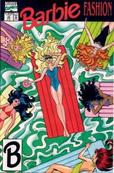 Vintage Barbie Comic Book No. Barbie and Friends at Poolside wearing a Royal Blue Swimsuit. Excellent Mint Condition- Sealed in Plastic Case Vintage Comic Books, Vintage Cartoon, Vintage Comics, Barbie Cartoon, Girl Cartoon, Retro Wallpaper, Cartoon Wallpaper, Archie Comics, Ever After High