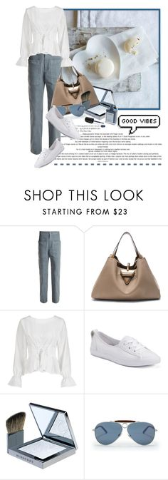 """""""Good Vibes......"""" by queenrachietemplateaddict ❤ liked on Polyvore featuring Loewe, Converse, Burberry, Ralph Lauren and J. Hannah"""