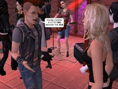 RUDY: You're lookin' a litte red around the 'bob.  #gothic #sims #webcomic #punks #goths #nightlife #courtleymanor