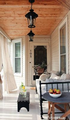 could totally curl up on a porch like that with a blanket and chai on a fall day.
