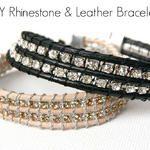 Handmade Gift Challenge: Rhinestone and Leather Bracelet