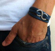 Pulsera hombres Infinity pulsera joyas para hombres por Galismens