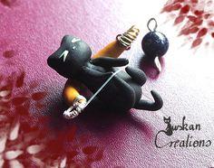 Niedliches schwarzes Katzensternzeichen: von JuskanCreations