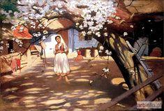 Włodzimierz TETMAJER ● Kwitnąca jabłoń, 1911 ● Aukcja ● Artinfo.pl