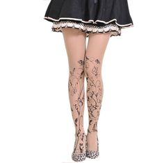 a0101de6e Meia Calça Fake Tattoo Natureza  meia  calça  fina  tights  stockings