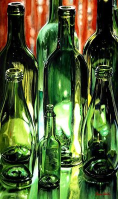 Going Green by Carrie Waller Watercolor 30 x 18
