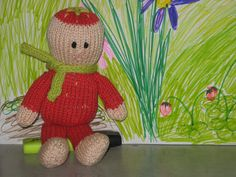 Knitted Berry Baby  Free Pattern