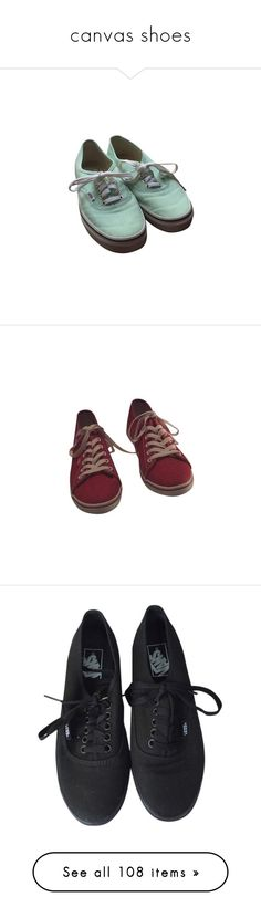 """""""canvas shoes"""" by mermaid-niels ❤ liked on Polyvore featuring shoes, mint shoes, vans sneakers, vans footwear, mint green sneakers, vans trainers, red canvas shoes, canvas footwear, vans shoes ve red shoes"""