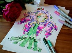 Pink Rose Lady by Lighane on DeviantArt