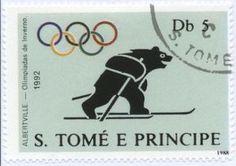Bear on skis